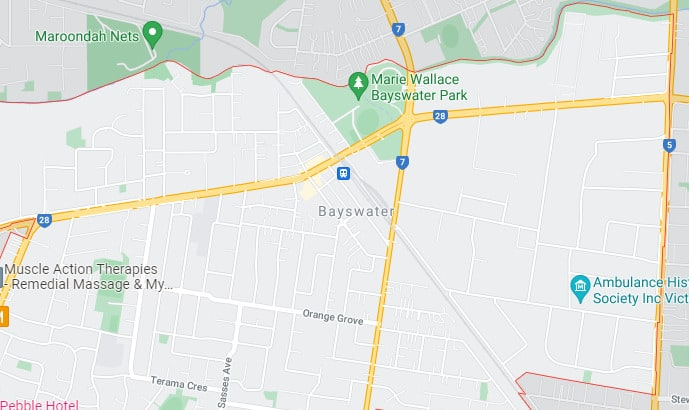 Bayswater Map Area
