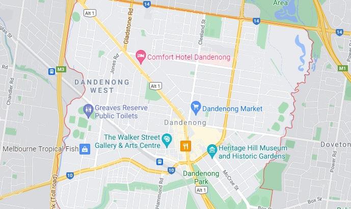 Dandenong Map Area