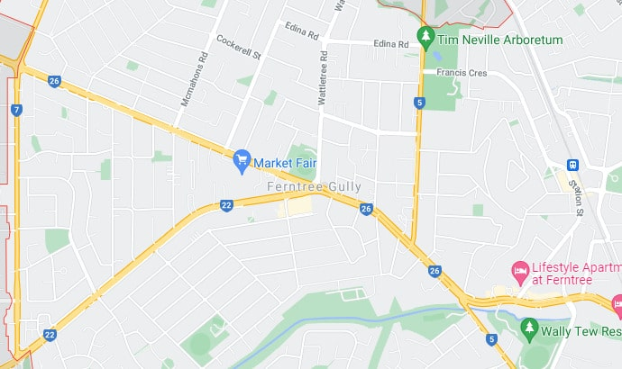 Ferntree Gully Map Area